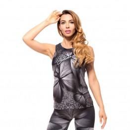 Дамски Потник EX FIT Training Top Gray Butterfly